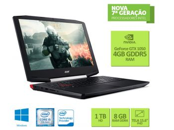 NOTEBOOK ACER CORE I5 7300HQ 8GB 1TB WIN10 15.6 FULLHD USB3.1 GTX 1050 4GB VX5-591G-54PG
