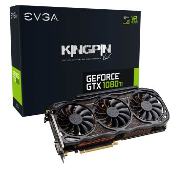 PLACA DE VIDEO EVGA GTX 1080 TI KINGPIN GAMING 11GB GDDR5X 352BITS 11G-P4-6798-KR