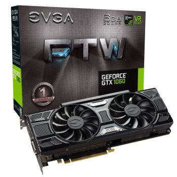 PLACA DE VIDEO EVGA GTX 1060 FTW GAMING 6GB DDR5 192BIT 06G-P4-6268-KR