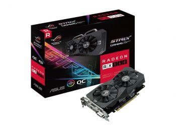 PLACA DE VIDEO ASUS RX 560 ROG STRIX OC EDITION 4GB DDR5 128BITS