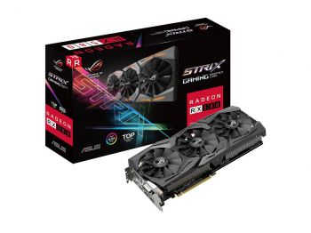 PLACA DE VÍDEO ASUS RX 580 STRIX ROG TOP EDITION 8GB GDDR5 ROG-STRIX-RX580-T8G-GAMING