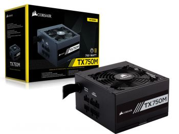 FONTE CORSAIR TX-M 750W 80PLUS GOLD S/ CABO DE FORCA CP-9020131-WW