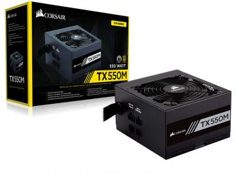 FONTE CORSAIR TX-M 550W 80PLUS GOLD S/ CABO DE FORCA CP-9020133-WW