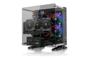 GABINETE THERMALTAKE CORE P1 BLACK WALL MOUNT MINI ITX CA-1H9-00T1WN-00