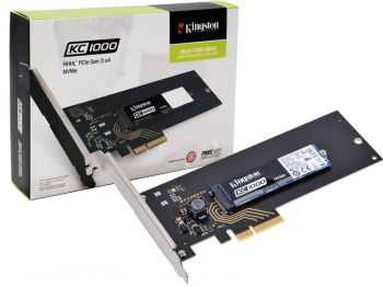 SSD KINGSTON 240GB KC1000 M.2 HHHL PCIE GEN3X4 NVME SKC1000H/240G