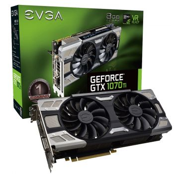 PLACA DE VIDEO EVGA GTX 1070 TI FTW ULTRA SILENT GAMING 8GB DDR5 256BIT 08G-P4-6678-KR