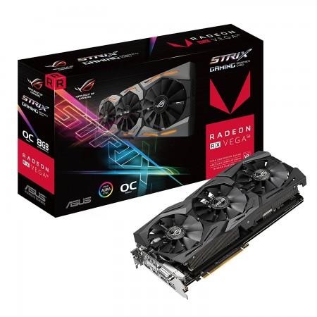 PLACA DE VIDEO ASUS RX VEGA 56 8GB HBM2 ROG-STRIX-RXVEGA56-O8G-GAMING  - foto principal 1