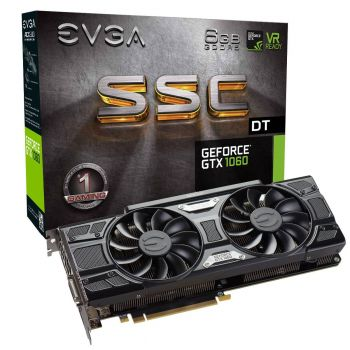 PLACA DE VIDEO EVGA GTX 1060 SSC DT GAMING 6GB GDDR5 192BITS 06G-P4-6265-KR