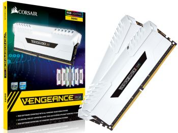 MEMORIA CORSAIR VENGEANCE RGB WHITE 16GB DDR4 KIT 2X8GB 3000MHZ CMR16GX4M2C3000C15W