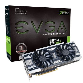 PLACA DE VIDEO EVGA GTX 1080 GAMING ACX 3.0 8GB GDDR5X 256BITS 08G-P4-6581-KR