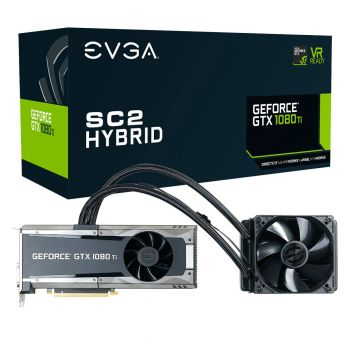 PLACA DE VIDEO EVGA GTX 1080 TI SC2 HYBRID GAMING 11GB GDDR5X 352BITS 11G-P4-6598-KR