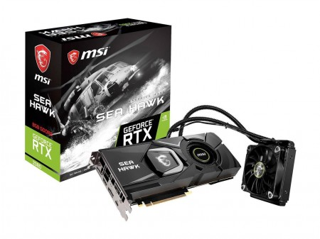 PLACA DE VIDEO MSI RTX 2080 SEA HAWK X 8GB GDDR6 256BIT  - foto principal 1