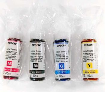 KIT TINTA ORIGINAL EPSON L220 / L365 / L375  / L120  (40ml cada)