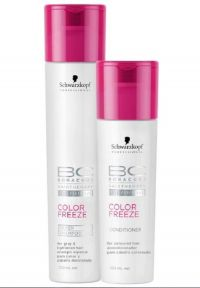 Schwarzkopf Professional BC Bonacure Color Freeze Silver Shampoo 250ml + Condicionador 200ml