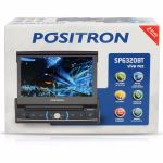 DVD Player Pósitron Retrátil 7 Polegadas USB SD Bluetooth SP6320BT