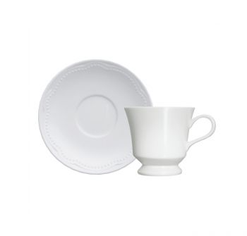 Cottage | Xícara Café c/ Pires 80ml | Germer Porcelanas