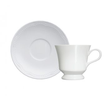 Cottage | Xícara Chá c/ Pires 190ml | Germer Porcelanas