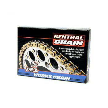 Corrente Renthal 420x130 R1 Works Chain - Dourado