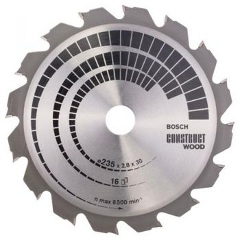Disco de Serra Circular Construct Wood 9 1/4'' - 235mm
