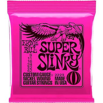 Encordoamento Guitarra Ernie Ball Super Slinky 009