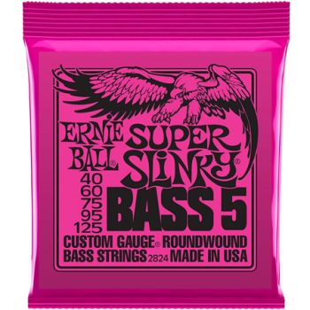 Encordoamento Contrabaixo Ernie Ball Super Slinky Bass 5 040 5 Cordas