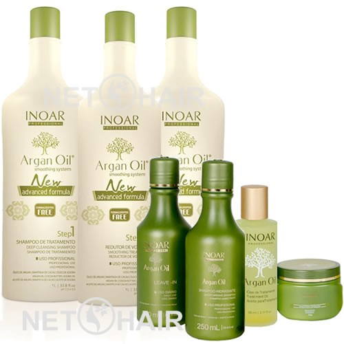 Inoar Argan Oil System - Escova de Argan + Inoar Argan Oil Home Care