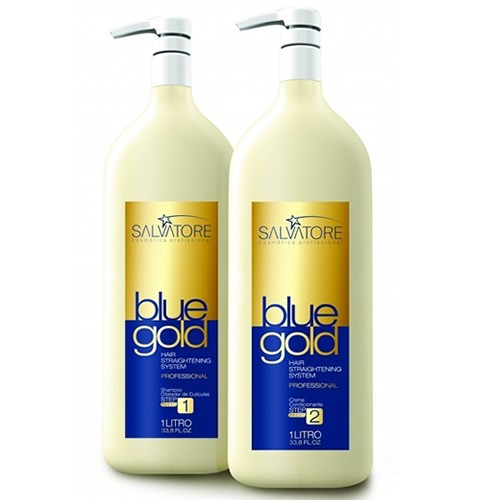 Salvatore Escova Progressiva Blue Gold - 2x1 litro
