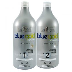 Salvatore Escova Progressiva Blue Gold Premium - 2x1L  - foto 1