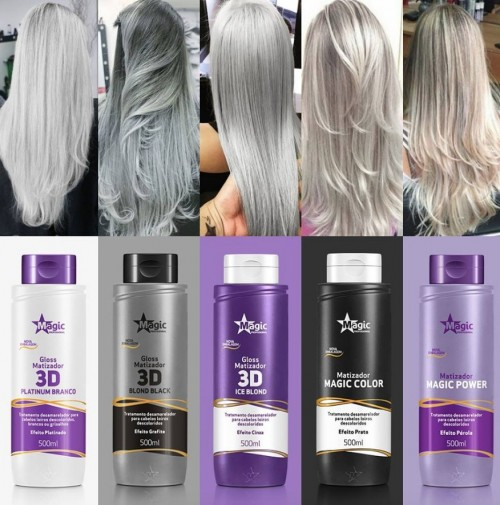 Magic Color Gloss Matizador 3D Blond Black Efeito Grafite  500ml  - foto principal 2
