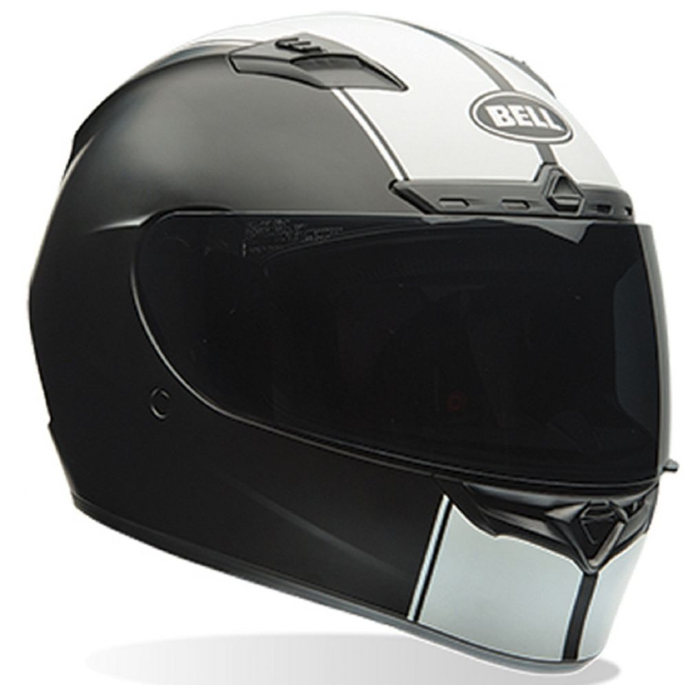 CAPACETE BELL QUALIFIER DLX RALLY MATTE BLACK WHITE