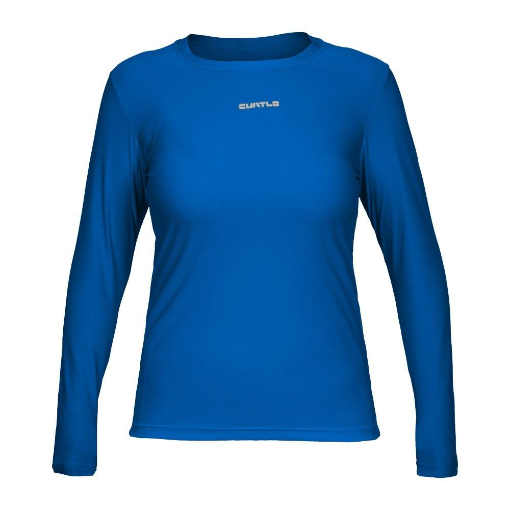 CAMISETA CURTLO ACTIVE FRESH FEMININA (MANGA LONGA) AZUL ROYAL