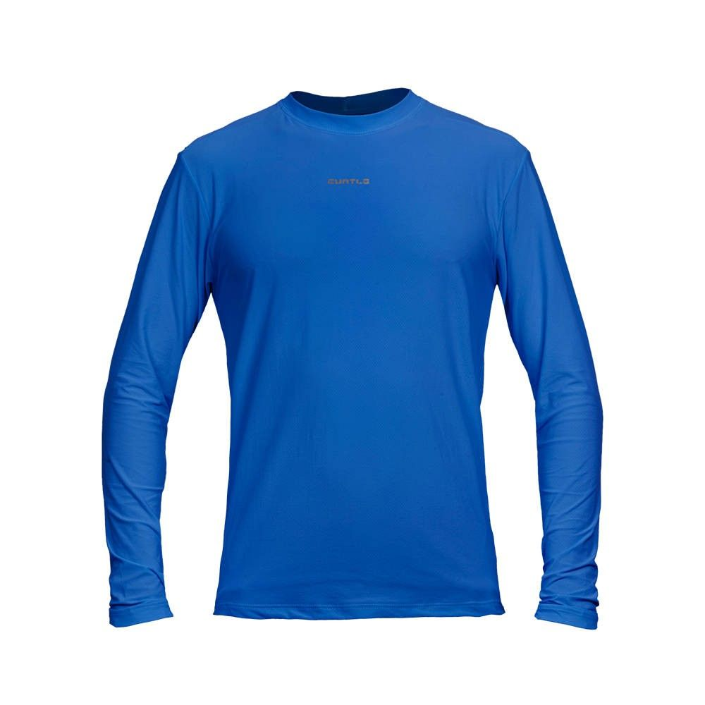CAMISETA CURTLO ACTIVE FRESH MASCULINA (MANGA LONGA) AZUL ROYAL