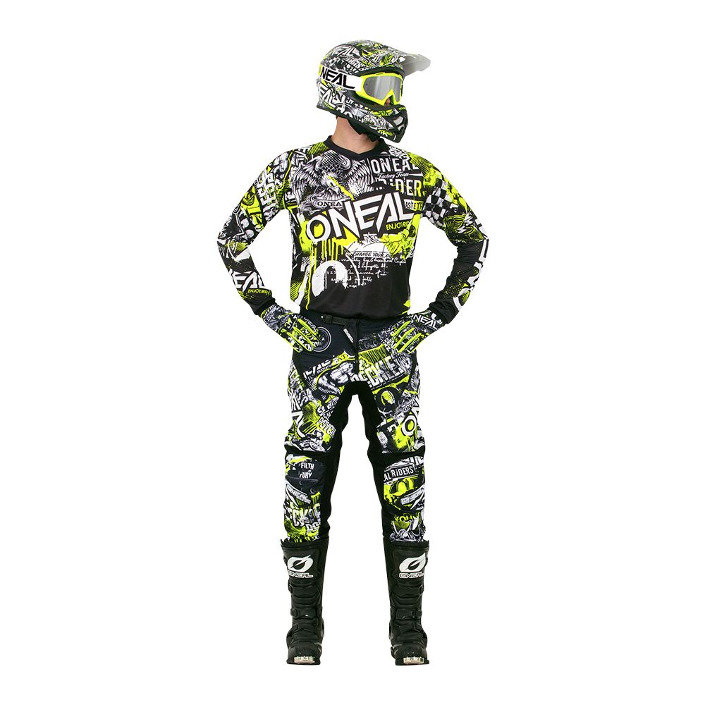 CONJUNTO O'NEAL ELEMENT ATTACK PRETO/HI-VIZ