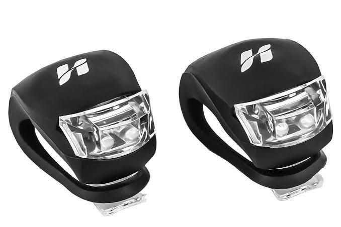 KIT LANTERNAS SILICONE 2 LEDS PARA BIKE HIGH ONE - PRETO