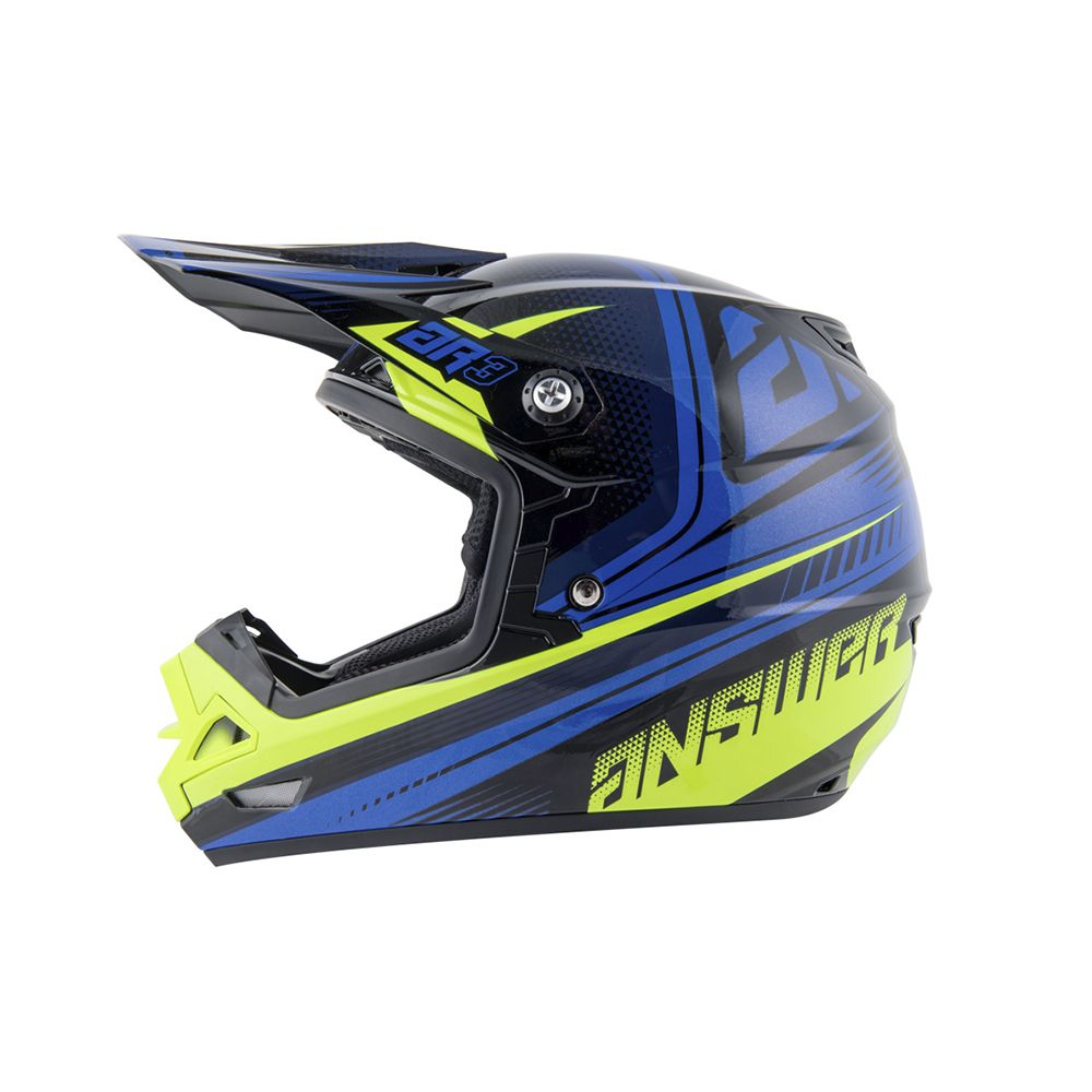 CAPACETE ANSWER AR3 CHARGE AZUL/AMARELO