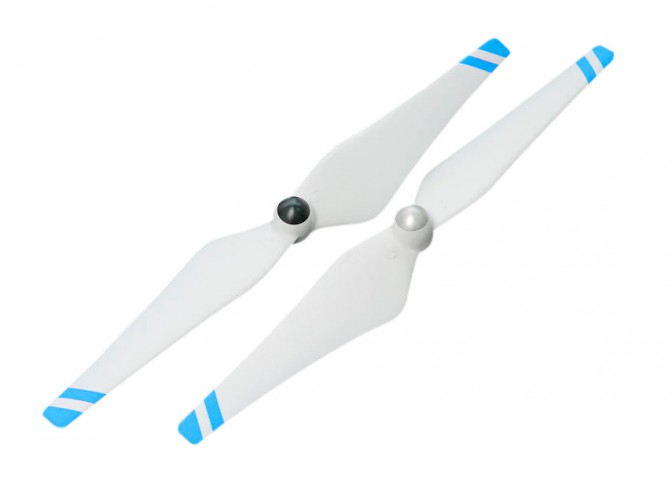 9450 Self-tightening Rotor(White With Blue Stripes) - Hélices 9450 Branca com listra Azul  - foto principal 1
