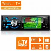 Mp3 Player Multilaser Rock Tela 3 Usb Sd Auxiliar Mp5 + Tv