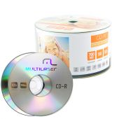 Cd-r Multilaser 700mb 52x Shrink Com 100 Unidades