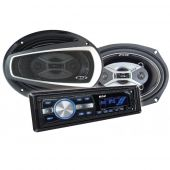 Kit Alto Falantes 6x9 Pol + Radio Mp3 Player B52 Elk 269