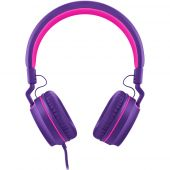 Headphone Fone Pulse On Ear Stereo Rosa Roxo Ph161 Ph 161