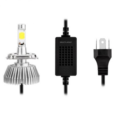 Kit Xenon Super Led H3 12v 30w 6200k - Multilaser Au824  - foto principal 2