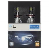 Kit Lâmpada Super Led Automotiva Multilaser H8 6200k 40watts