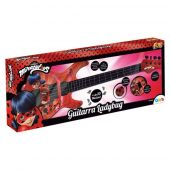 Guitarra Ladybug Infantil Fun Miraculous Conecta Celular Mp3