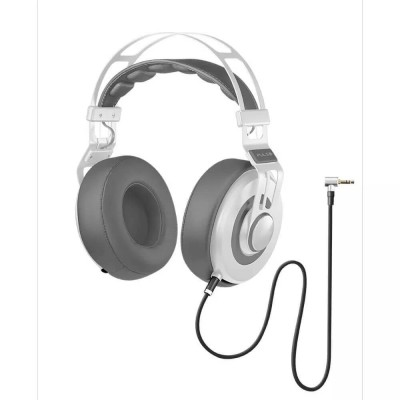Fone De Ouvido Headphone Wired Large Branco Ph238 Pulse vpsom 1