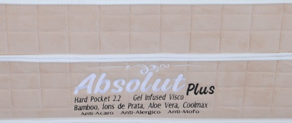 Conjunto Intercoil Modelo Absolut Plus Visco e Gel Queen Size 1,58 x 1,98  - foto principal 1