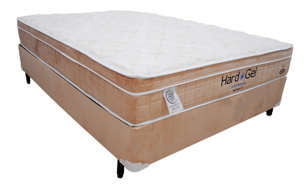 Cama Box Englander Hard Gel Casal Molas Tipo Pocket 138x188x28cm