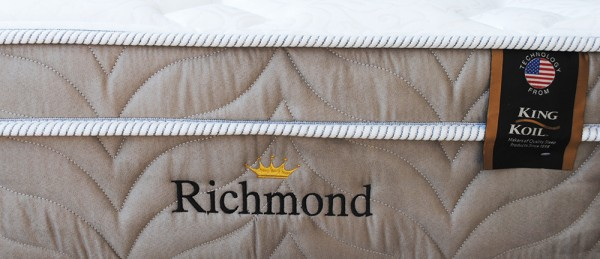 Conjunto Box King Koil Modelo Richmond Suede Queen Size 1,58 x 1,98 Box Bipartido  - foto principal 1
