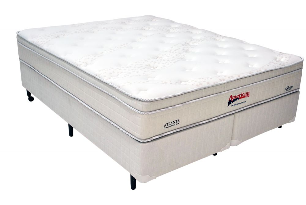 Conjunto Box American Sleep Modelo Atlanta Queen Size 1,58 x 1,98