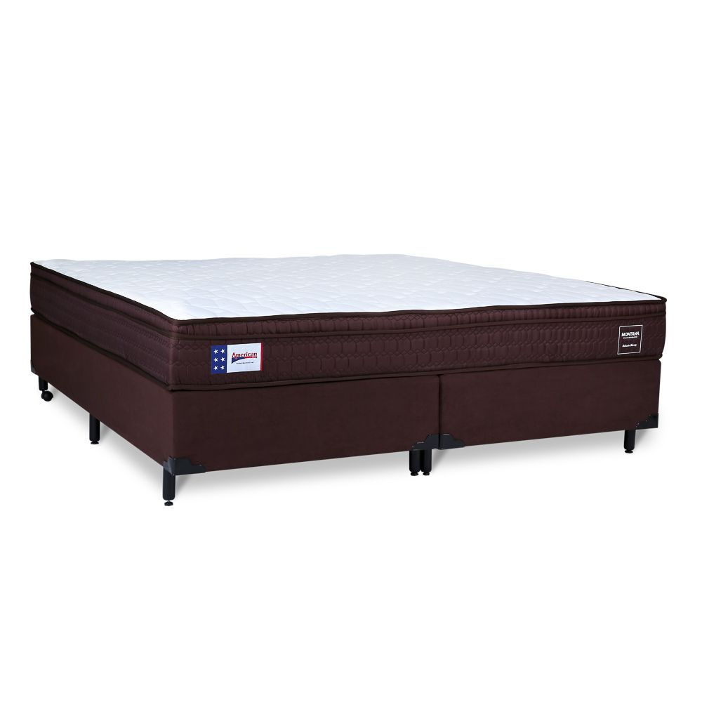 Conjunto Box American Sleep Modelo Montana Queen 1,58 x 1,98