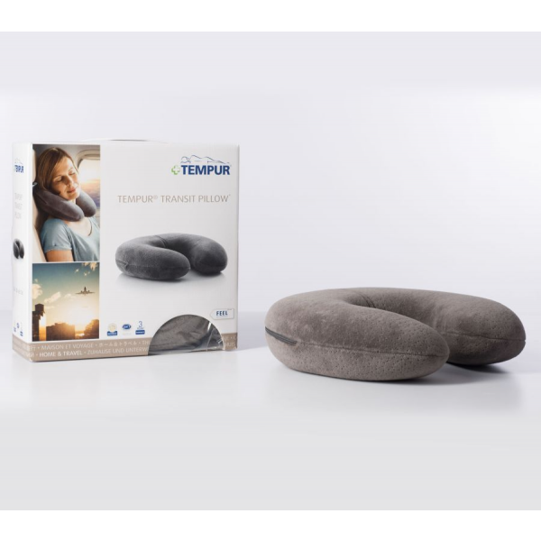Travesseiro Tempur® Transit Pillow 30x28x8 Velour Grey